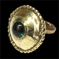 Button XIII-XIV century with gem - 08